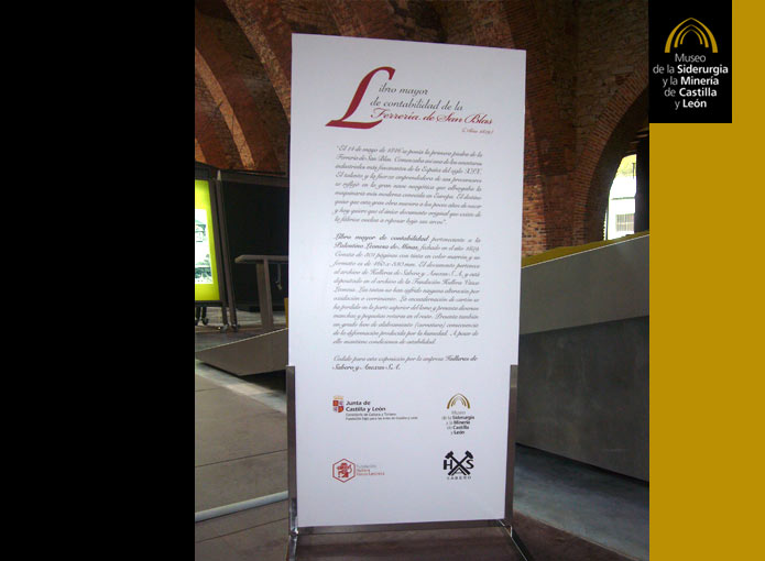 Exposición: LIBRO MAYOR DE CONTABILIDAD DE LA FERRERÍA DE SAN BLAS