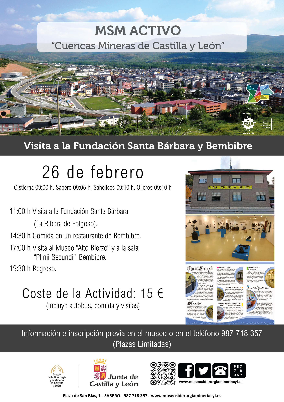 MSM ACTIVO: CUENCAS MINERAS DE CASTILLA Y LEÓN. Visita a la Fundación Santa Bárbara y Bembibre