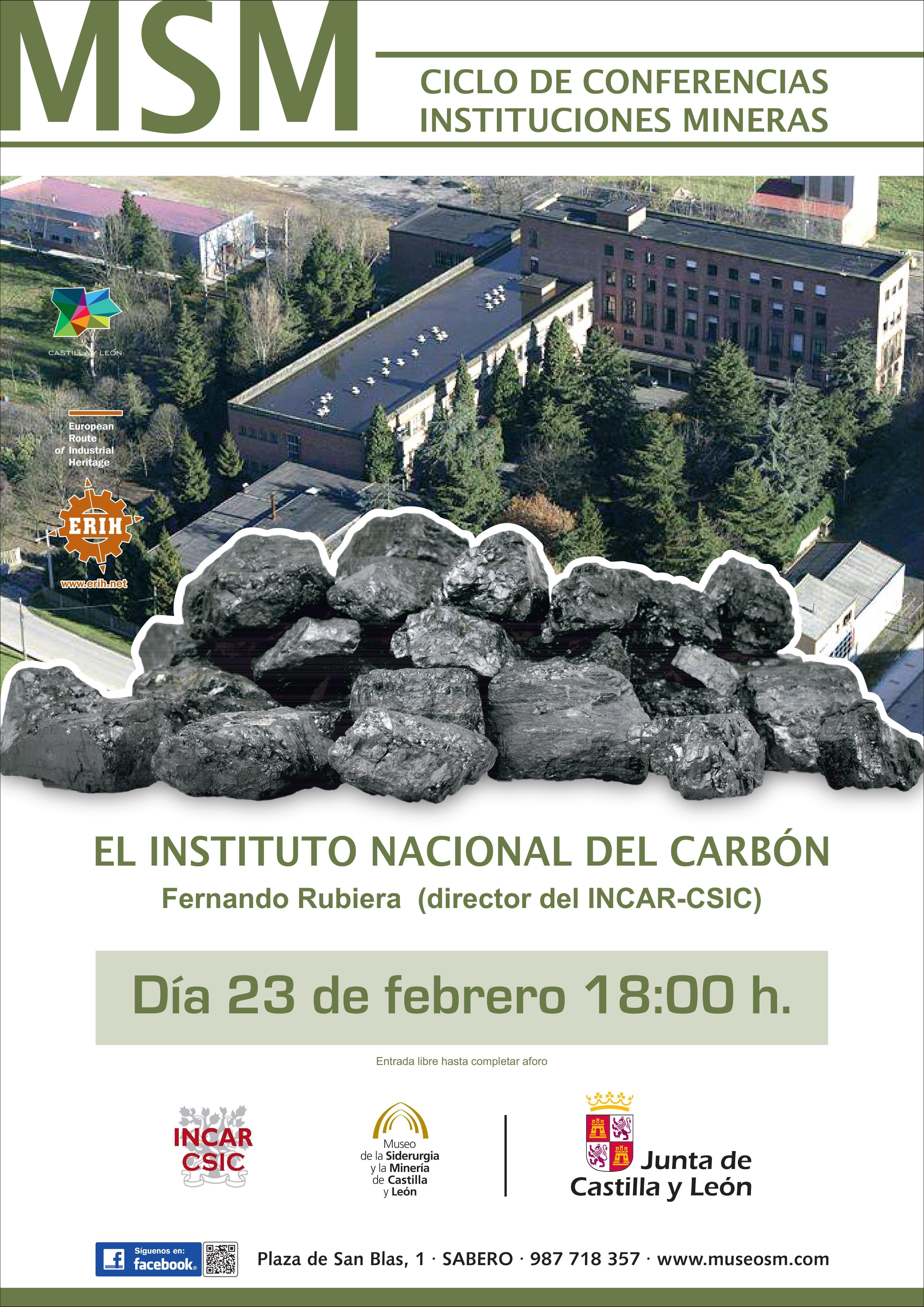 """CICLO DE CONFERENCIAS: """"Instituciones Mineras: El Instituto Nacional del Carbón"""""""