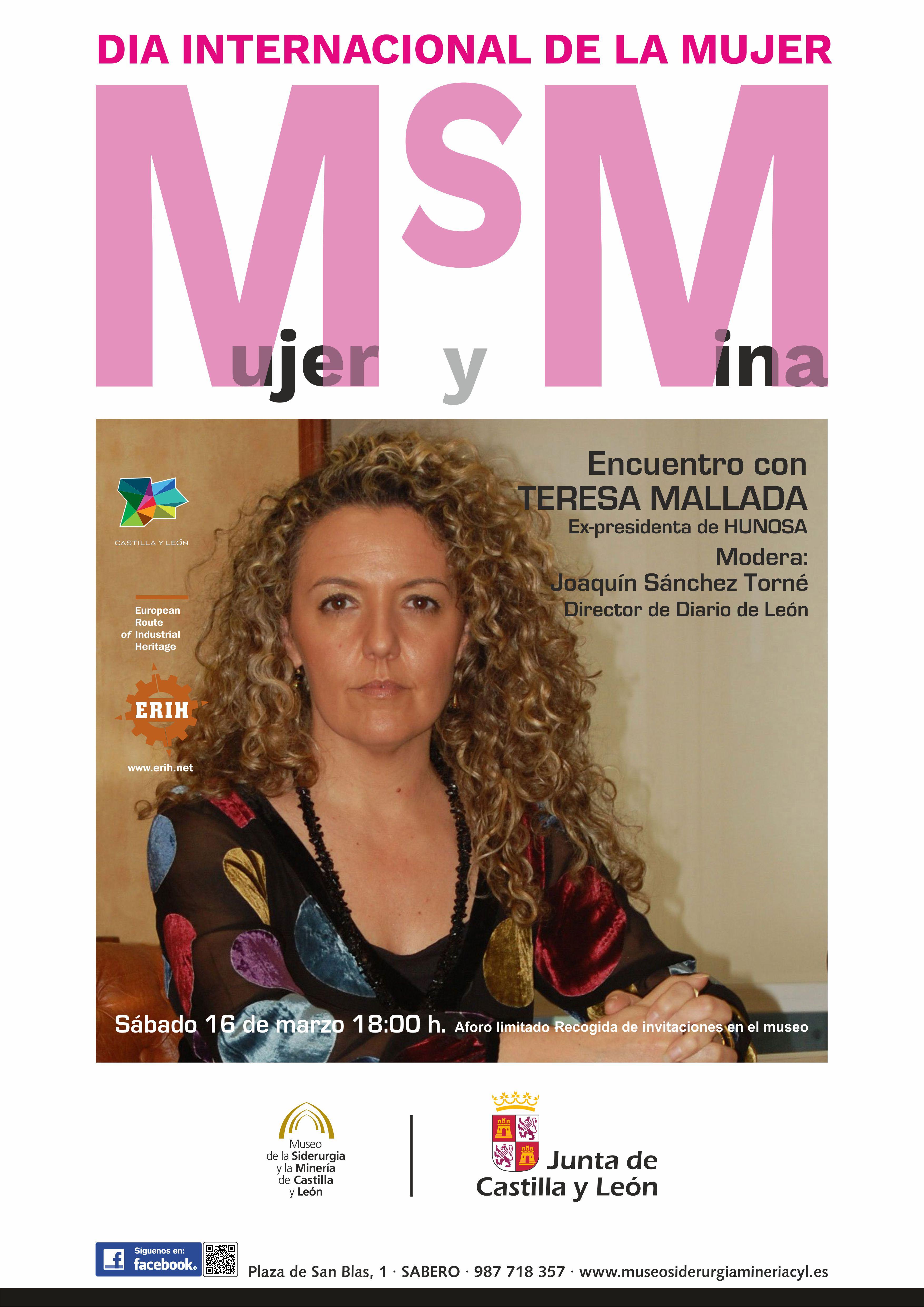 """CICLO DE CONFERENCIAS: """"Mujer y Mina: Encuentro con Teresa Mallada"""""""
