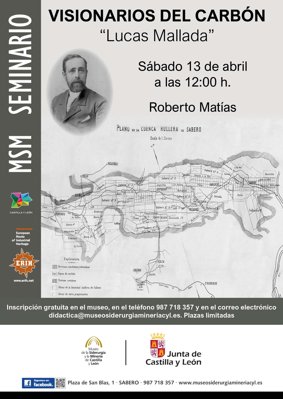 """MSM FORMACIÓN. SEMINARIO """"VISIONARIOS DEL CARBÓN: LUCAS MALLADA"""""""