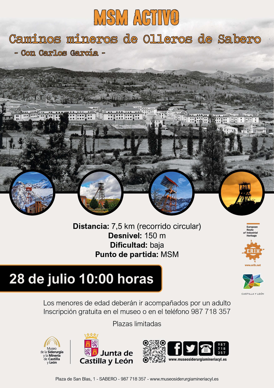 """MSM ACTIVO: """"CAMINOS MINEROS DE OLLEROS DE SABERO"""""""
