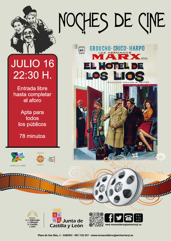"""NOCHES DE CINE: """"EL HOTEL DE LOS LIOS"""" LOS HERMANOS MARX"""