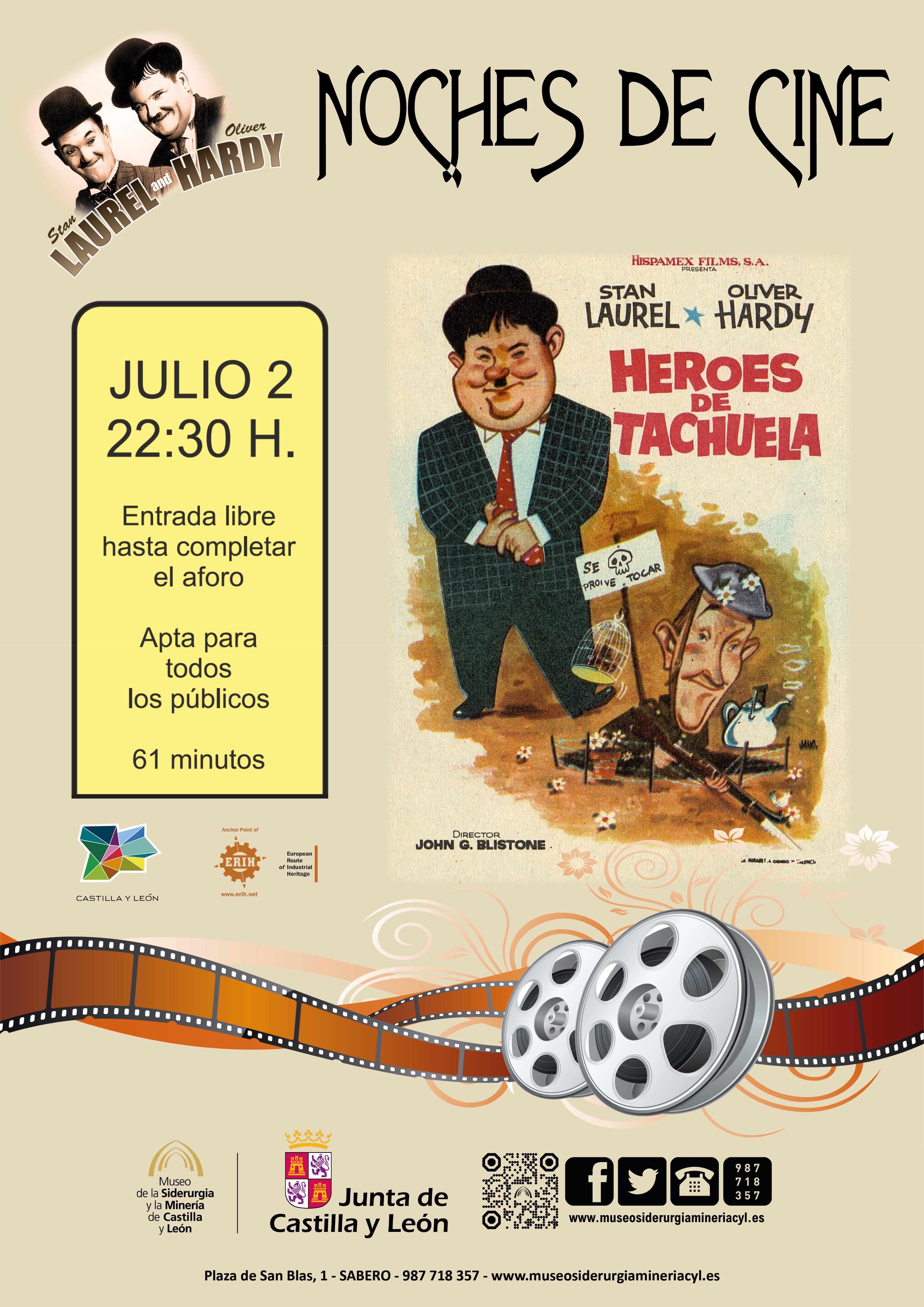 """NOCHES DE CINE: """"HEROES DE TACHUELA"""" LAUREL Y HARDY"""