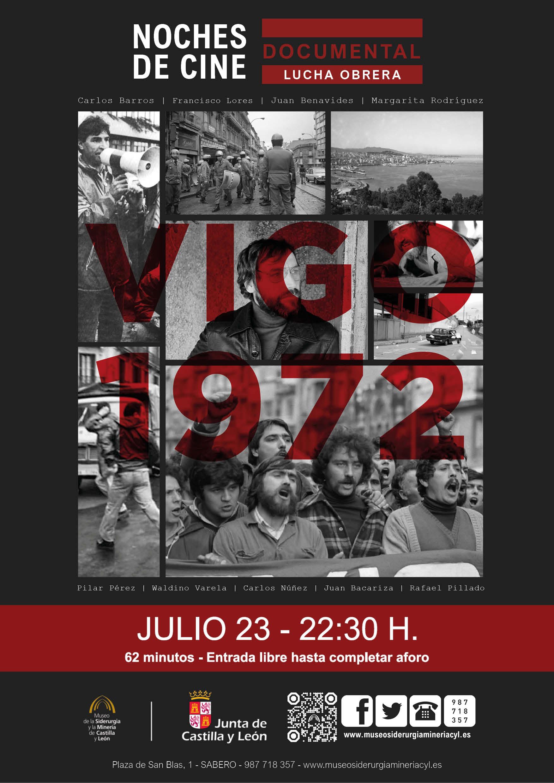 """NOCHES DE CINE. DOCUMENTAL LUCHA OBRERA. """"VIGO 1972"""""""