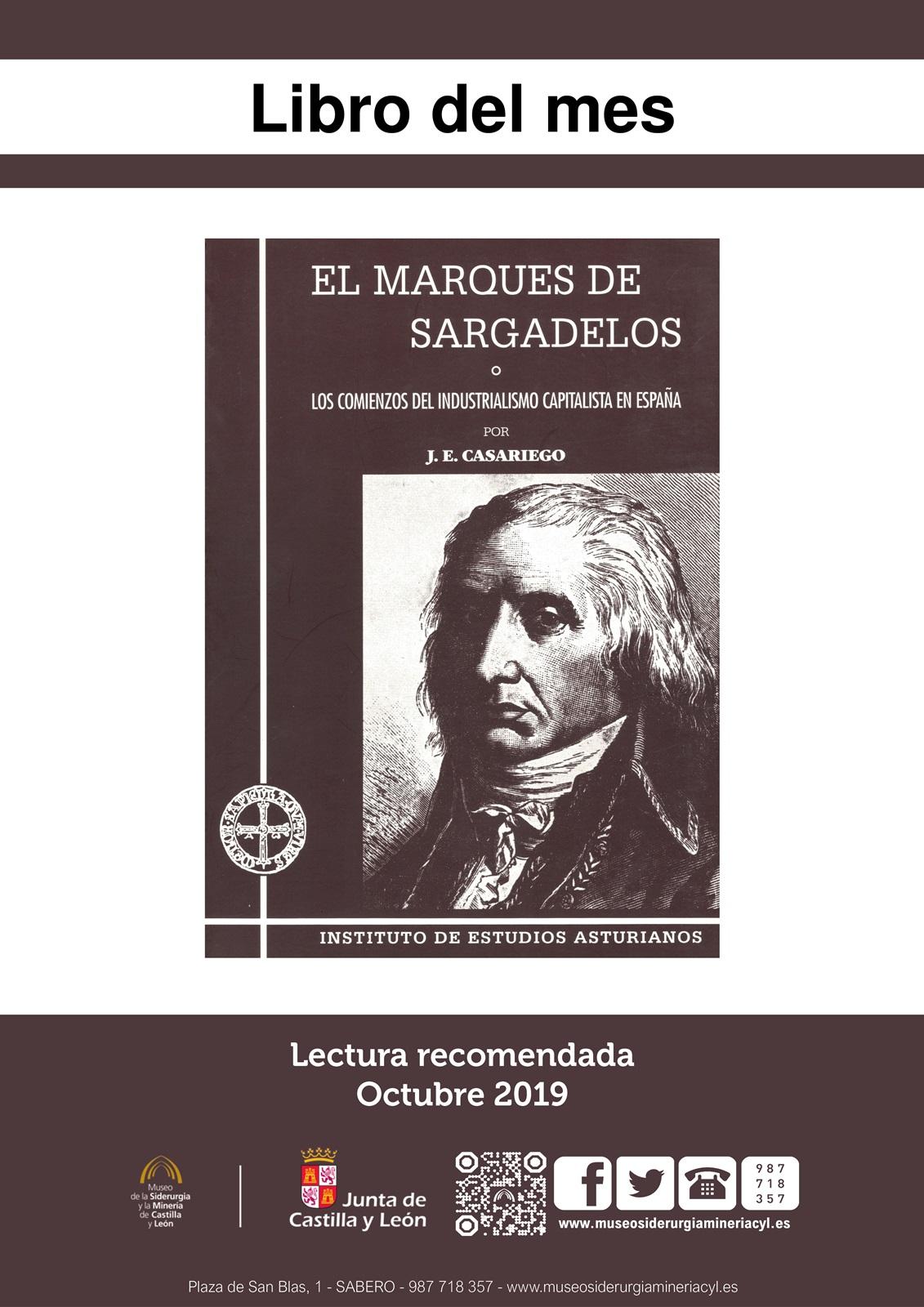 """LIBRO DEL MES: EL MARQUÉS DE SARGADELOS, O LOS COMIENZOS...."""". EJEMPLAR PRESTADO TEMPORALMENTE POR EL MUSEO."""