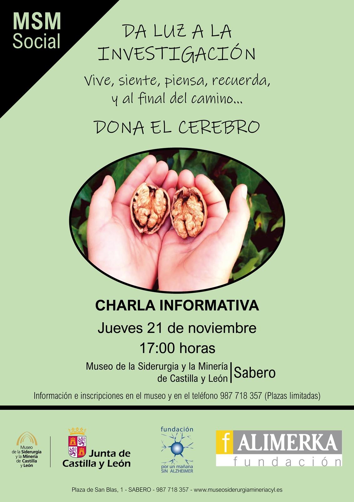 """MSM SOCIAL. CHARLA INFORMATIVA """"DONA EL CEREBRO"""""""