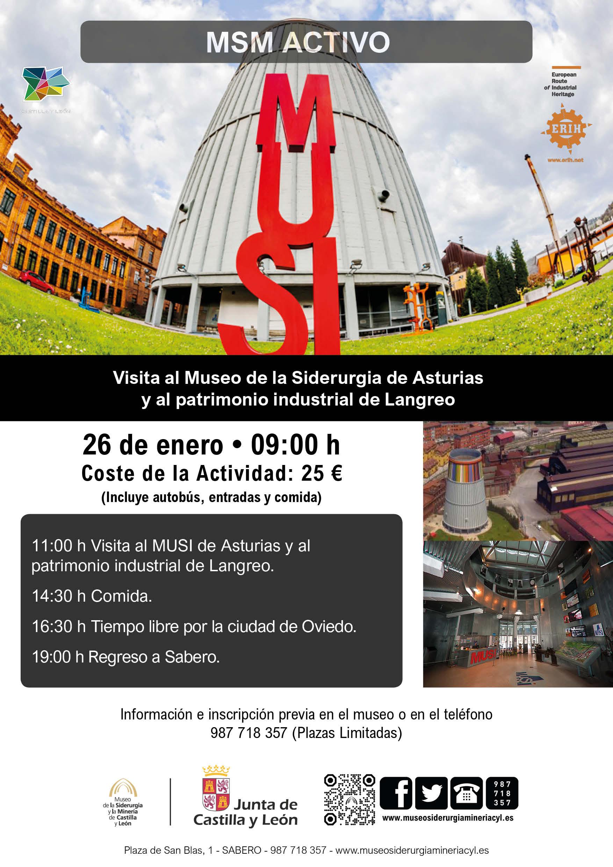 MSM ACTIVO. VISITA AL MUSEO DE LA SIDERURGIA DE ASTURIAS Y AL PATRIMONIO INDUSTRIAL DE LANGREO.