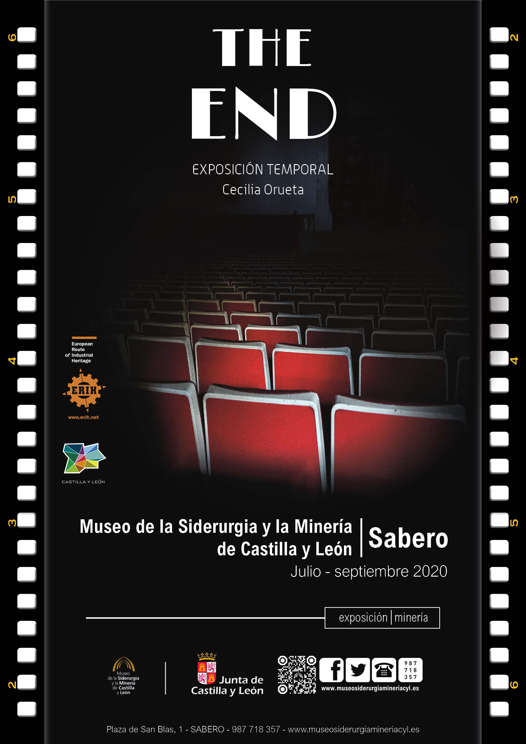 Cartel inauguración the end