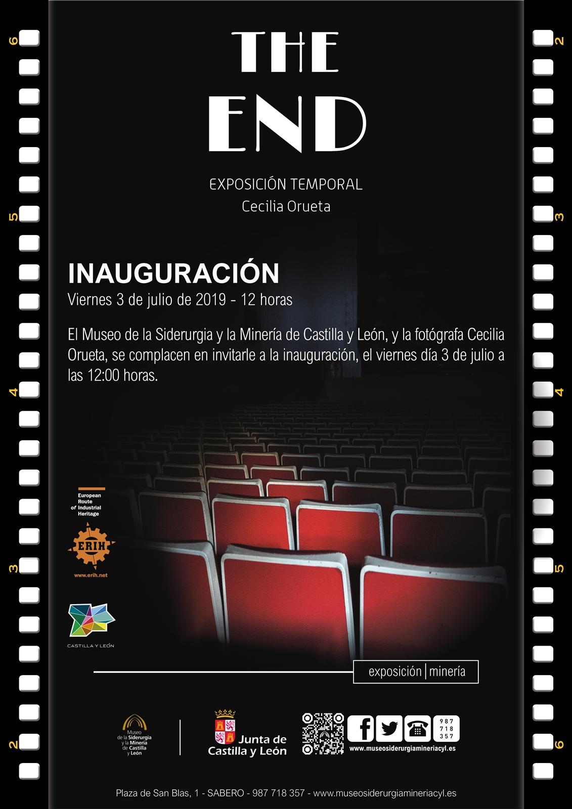 Cartel inauguración the end