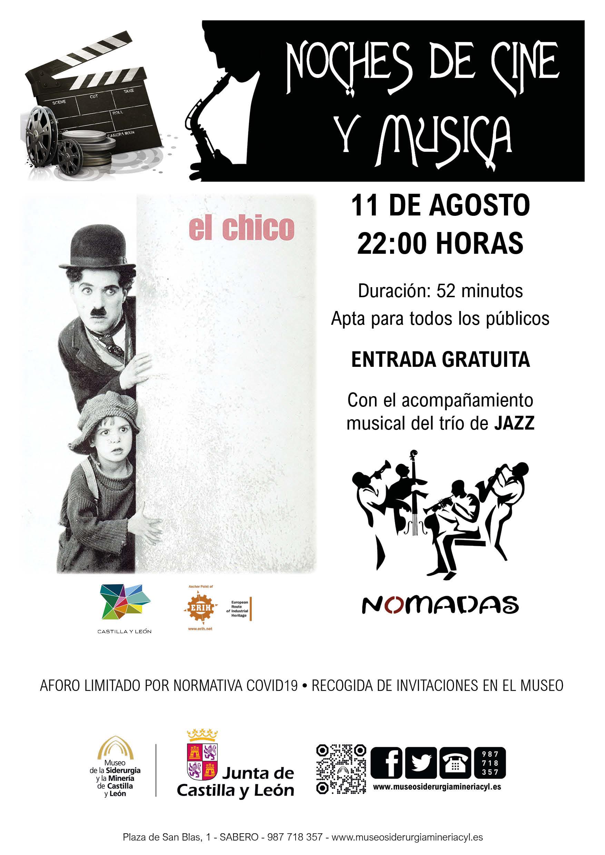 """NOCHES DE CINE Y MÚSICA: """"EL CHICO"""" DE CHARLES CHAPLIN, CON EL ACOMPAÑAMIENTO MUSICAL DEL TRÍO DE JAZZ."""