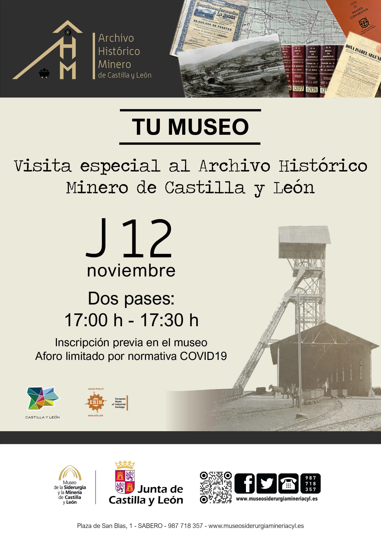 """VISITA ESPECIAL """"ARCHIVO HISTÓRICO MINERO DE CASTILLA Y LEÓN"""""""