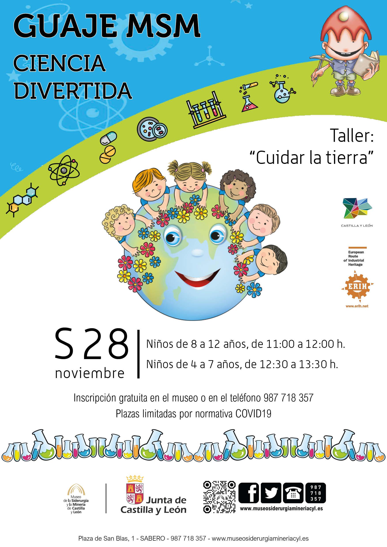 """PROGRAMACIÓN INFANTIL - GUAJES MSM. TALLER """"CIENCIA DIVERTIDA: CUIDAR LA TIERRA"""""""