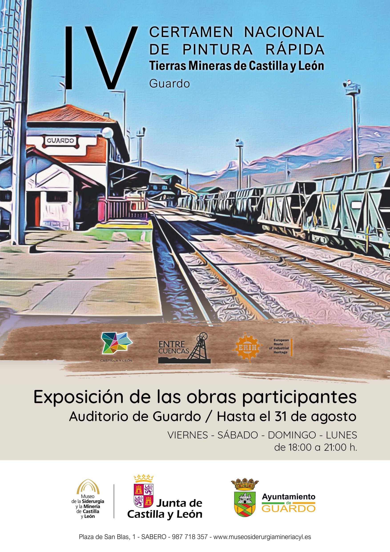 """LUGAR: GUARDO (PALENCIA). EXPOSICIÓN TEMPORAL IV CERTAMEN NACIONAL DE PINTURA RÁPIDA. """"TIERRAS MINERAS DE CYL""""."""
